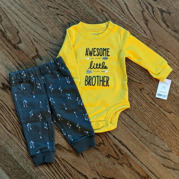 dc1a68270 Carter's Matching Sets | Nwt Carters 6m 2 Pc Outfit Awesome Little ...